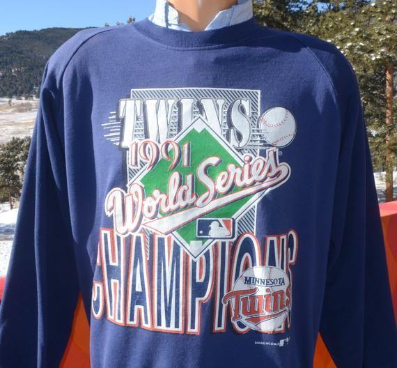 promo code 883d4 8f14e vintage 90s sweatshirt TWINS minnesota world series crewneck ...