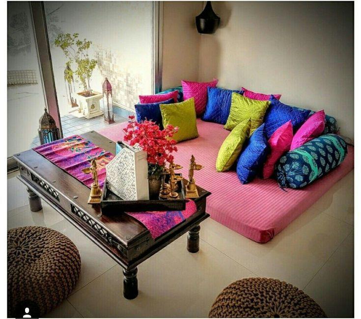 Amazing Living Room Designs Indian Style Interior Design And Decor Inspiration Livingroomde Living Room Decor India Floor Seating Living Room Home Decor