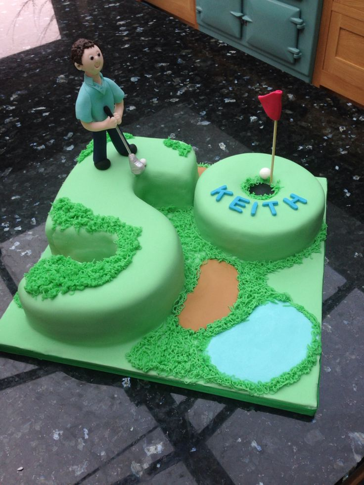 "50th Birthday Golf Cake- ""Fab cake Geraldine - thank you Lx """