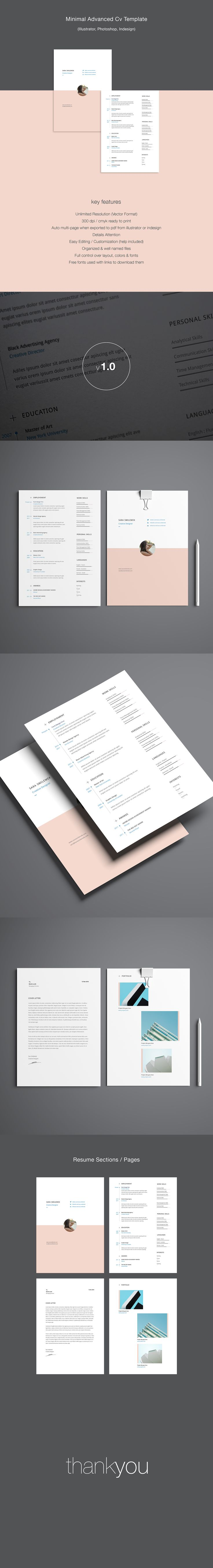 Advanced 4 Pages resume template with for