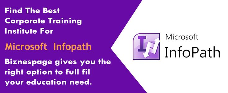 Microsoft InfoPath, one of the newest additions to the Microsoft Office suite, is a simple but effective application designed to allow non-developers to create....! Know more at ‪#‎Biznespage‬ http://www.biznespage.com/category/mircosoft-infopath/