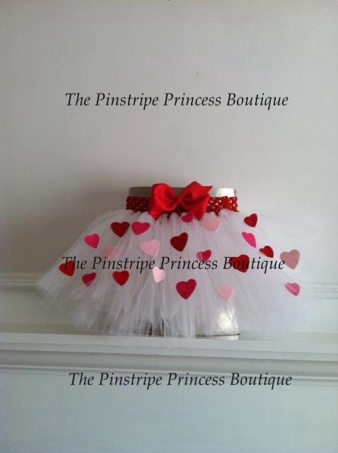 Red and Pink Heart Valentine's Day tutu by ThePinstripePrincess, $25.00