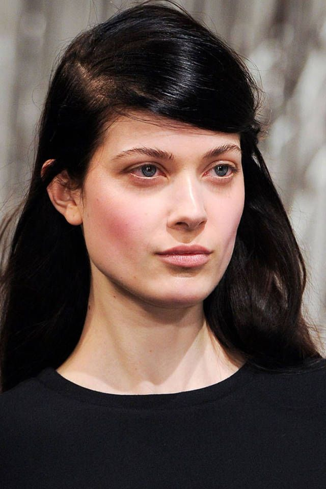 Glossy pink lids and winter-flushed cheek at the Opening Ceremony FW 2014