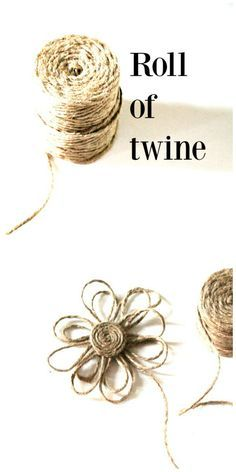 Make a twine flower. Perfect for embellishing home decor, gifts and more. Popular pin