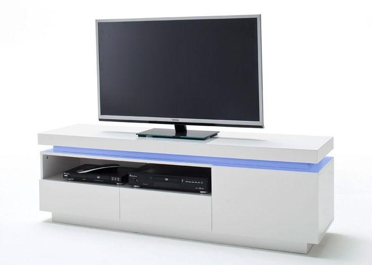Lowboard Ocean mit LED Licht Weiß Hochglanz 8192. Buy now at https ...