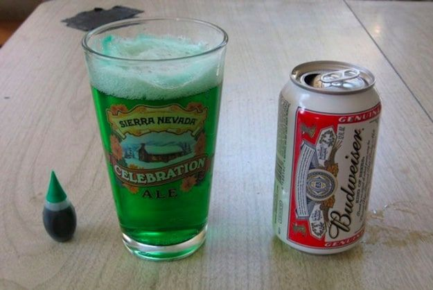Pour the Rest of the Beer | Make Your Own Green Beer For St. Patrick's Day