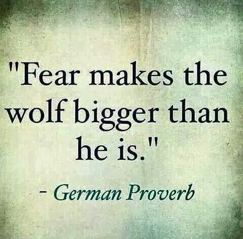 Laat de angst nooit leiden