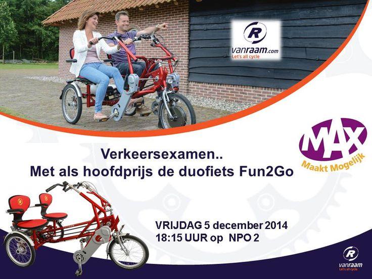 Verkeersexamen bij Max Maakt Mogelijk met de duofiets