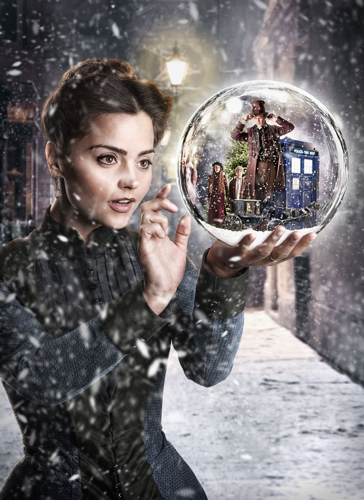 Doctor Who Photo w/ Clara from The Christmas special. Feels very much in the spirit of Soft Winter.