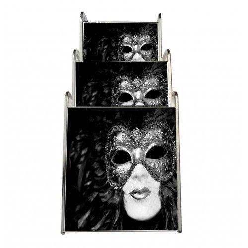 Siyah Maske Tasarımlı Sehpa