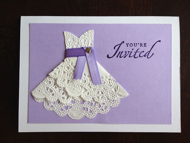 How To Make Wedding Invites: DIY Doily Wedding Dress Invitations For Bridal Shower