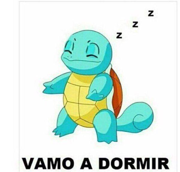 meme squirtle vamo a dormir