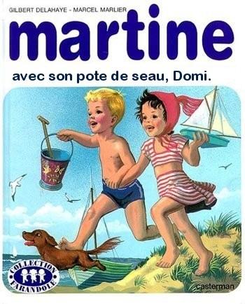 Martine avec son pote de seau, Domi