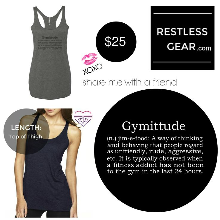 Story Behind The Design: Fitness Addicts don't get attitudes, we get Gymittudes. We need that alone time in the gym to focus, train, and push ourselves. Warning; Do not keep fitness junkies out of the gym, or you will have to deal with our Gymittudes!  #restlessgear #womens #ladies #workout #training #tshirt #tank #top #racerback #apparel #gear #bodybuilding #weight #fitness #tee #shirt #apparel #gymittude