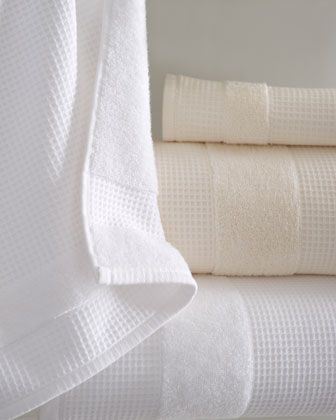 """Hotel"" Towels with Waffle and Reverse Terry Texture"