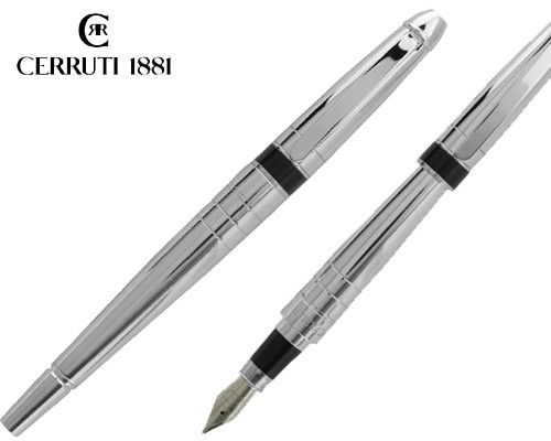 CERRUTI 1881 embodies style, elegance and unique handwriting. Its sleek silver body is considered to be optimum style and elegance. The nib is made from finest quality stainless steel that ensures smooth writing. Feel the luxury of exquisite craftsmanship with this distinct fountain pen and you will be counted as true connoisseur of art.