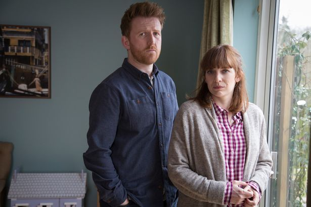 Tom Goodman-Hill and Katherine Parkinson in Humans, 2015
