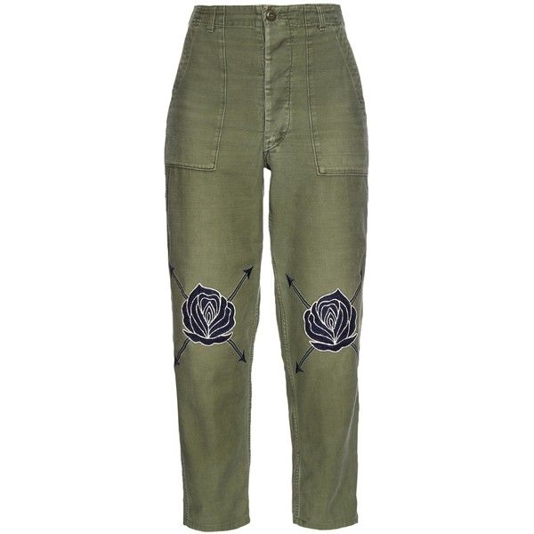 Bliss and Mischief Song of the East Army Pants (1,420 CNY) ❤ liked on Polyvore featuring pants, capris, bottoms, trousers, khaki multi, cropped pants, cotton cargo pants, green high waisted pants, green cargo pants and high-waisted pants