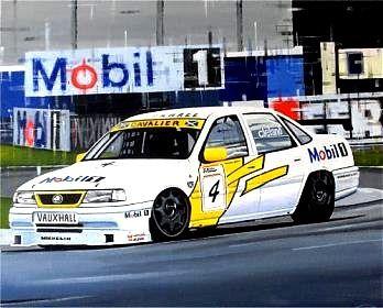 John Cleland, 1995 BTCC champion. Acrylic on canvas.  http://www.thegalleryofspeed.com/ #motorsport #f1 #automotive #formula #one #race #car #lemans #btcc #le #mans #auto #art