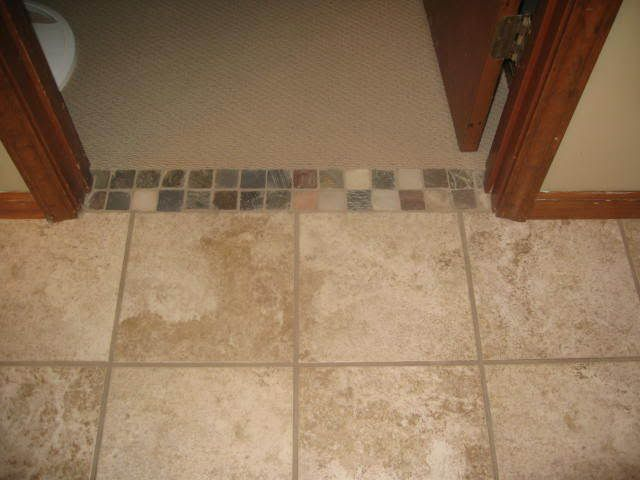 Tiling Bathroom Door Threshold interior door threshold carpet to tile - carpet vidalondon