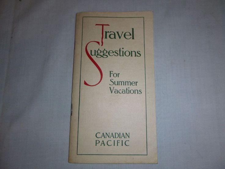 Vtg 1924 Canadian Pacific Railway Travel Vacation Guide w/ Route Map 32 Pgs