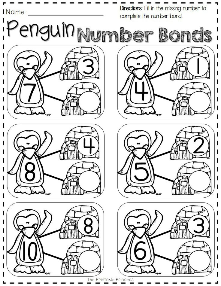 FREEBIE printable pages for winter. Great for reviewing after winter break!