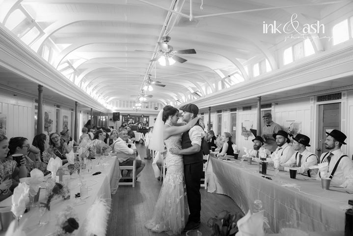 Indoor Wedding Reception - At the SS Sicamous, Penticton, BC. Portrait by Ink and Ash Photography