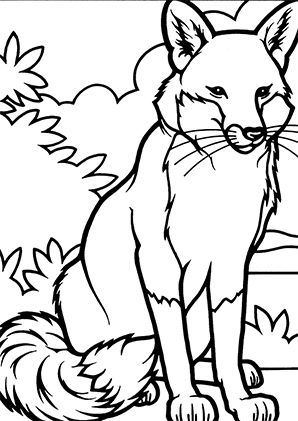 Fuechse Ausmalbilder Ausmalbilderobst Coloring Pages Fox