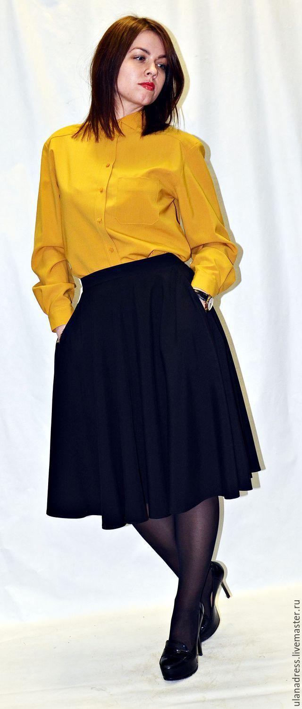 Купить Юбка солнце(черная)офисная юбка - юбка, юбка черная, юбка миди, юбка солнце