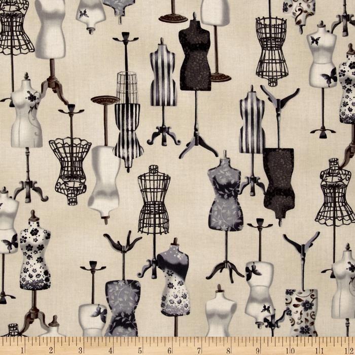 Vintage Couturier 2 Mannequin Charcoal