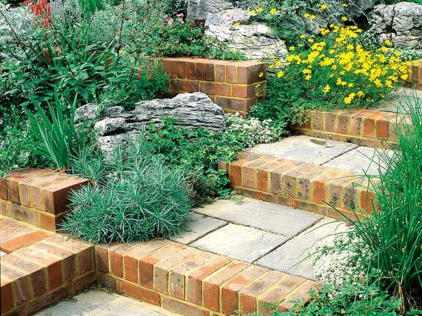 Landscape tips for outdoor stairs --> http://www.hgtvgardens.com/photos/landscape-and-hardscape-photos/step-it-up-design-ideas-for-landscaping-stairs?soc=pinterest
