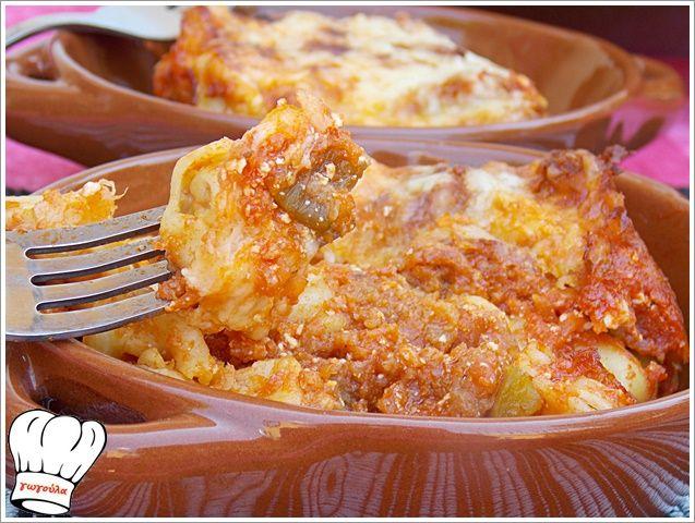 ΤΟΡΤΕΛΙΝΙΑ ΓΕΜΙΣΤΑ ΦΟΥΡΝΟΥ ΜΕ ΣΑΛΤΣΑ ΚΑΙ ΤΥΡΙΑ!!! | Νόστιμες Συνταγές της Γωγώς