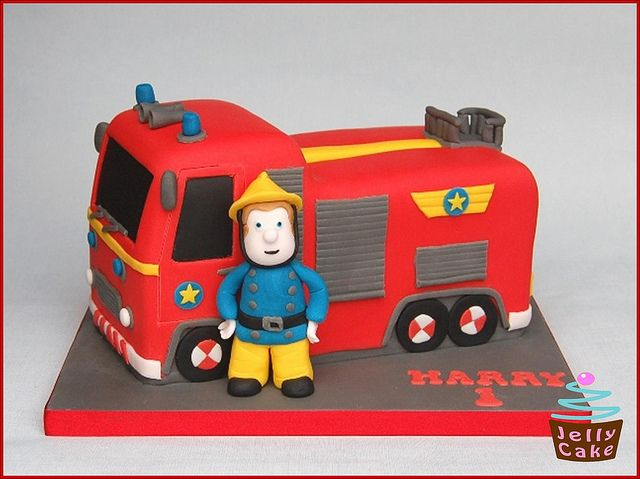 Fireman Sam Birthday Cake by www.jellycake.co.uk, via Flickr