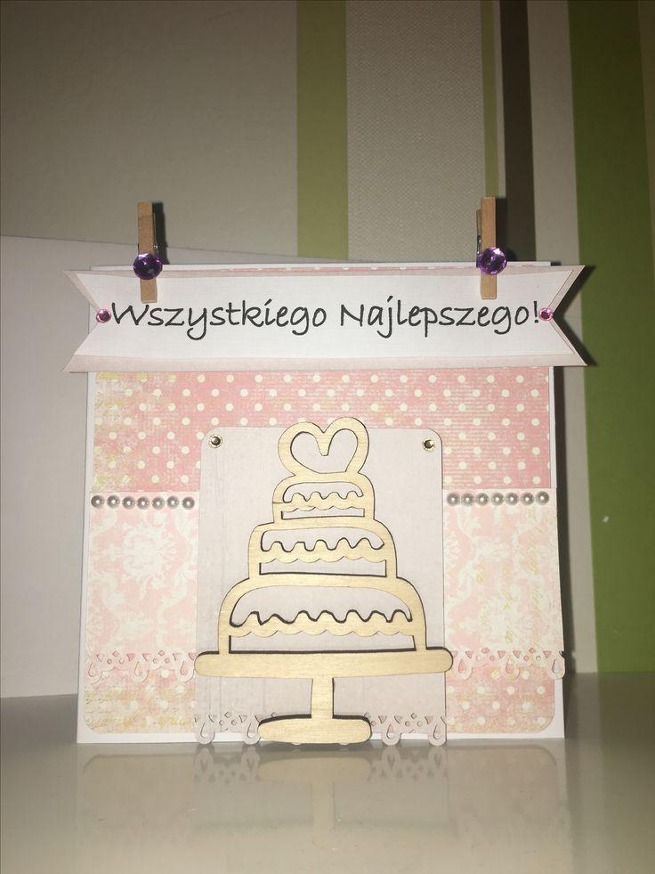 Urodzinowa kartka/ Birthday card - po więcej zapraszam na aniatworzy.blogspot.com :)