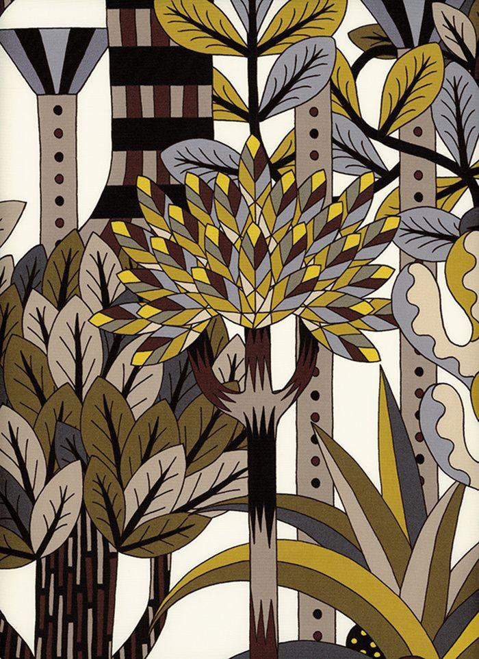 Papier peint Jardin d'Osier, Pierre Marie (Hermès)