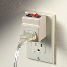Electricity switches are like mini power bars! You'd be surprised how much energy it saves.