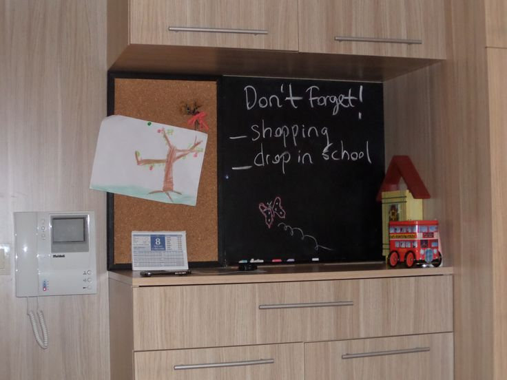 corkboard and chalkboard... for forgetful family like us. Making these very easy. Some cork, frame, some wood and chalkboard paint. That's it!