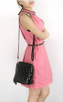 bebc16b4c1b Casual Stylish Woman With Black Quilted Patent Leather Sling Bag #bags  #leatherwork #casual #style
