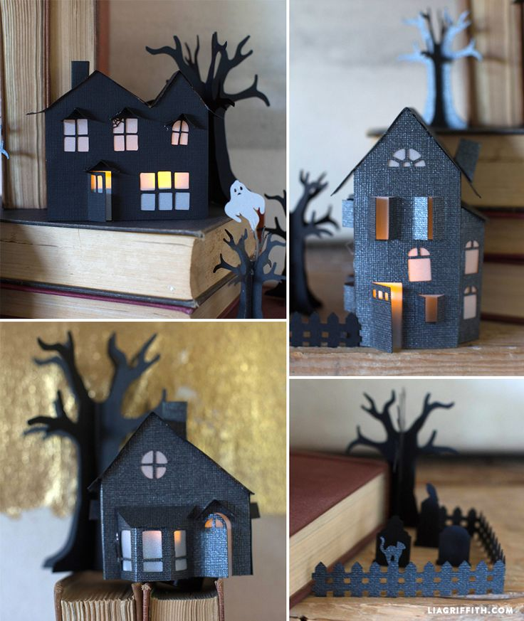 #Halloweencraft #papercraft #HalloweenDIY www.LiaGriffith.com