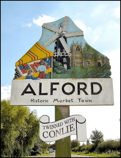Alford Town Sign, Lincolnshire