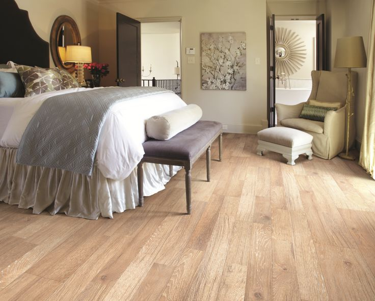 This room's rustic feel is enhanced by wood-look Laminate flooring.