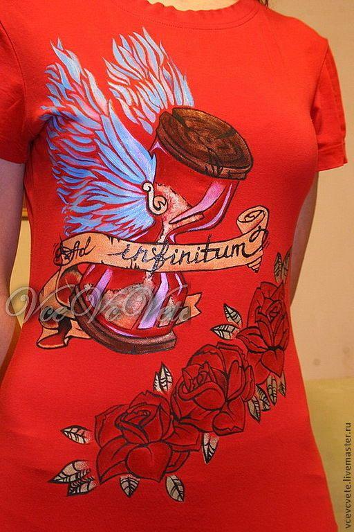 Купить роспись одежды. футболка. Бесконечность (роспись футболок) - футболка, роспись, заказать, заказ, красками