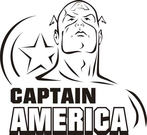 Face Captain America Coloring Page Sunday School