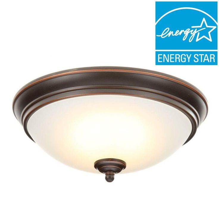 Commercial Electric Oil-Rubbed Bronze LED Energy Star Flushmount