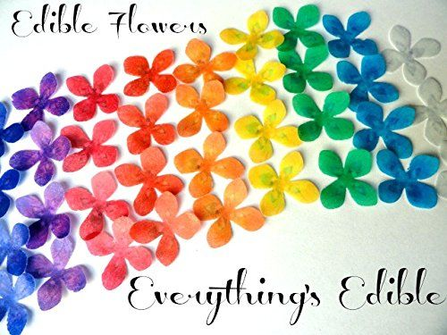 "24 Flowers in Assorted Rainbow Colors Edible Wafer Paper Flower 1.25"" Size - Cake and Cupcake Toppers, Edible Image Cookie Decorations for Weddings Birthdays Anniversary ModernTops http://www.amazon.com/dp/B00YCOTAUQ/ref=cm_sw_r_pi_dp_Ms7Pvb19E6V1V"