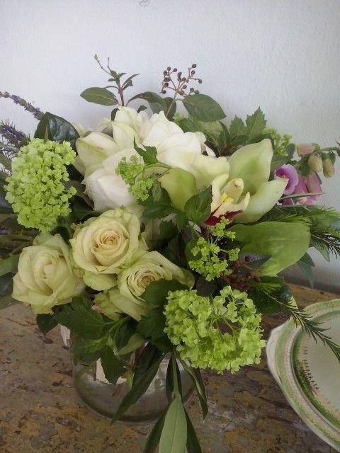 Garden flowers in my new At Source jar. Love it!