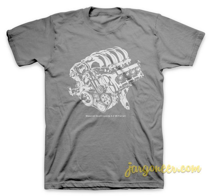 Maserati Quattroporte V8 Ferrari T-Shirt //Price: $13.25 Awesome Design for shirt influence cool shirt designs //     #coolshirtdesigns