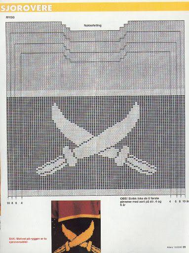 sabeltann genser | strikkesofie: Mønster kaptein sabeltann genser