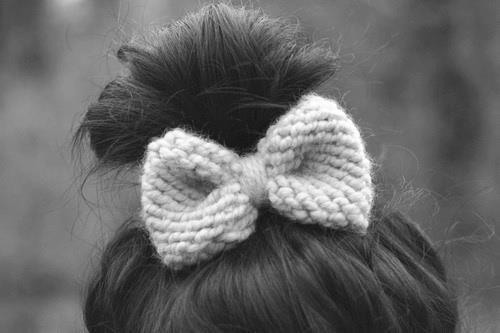 crochet bow.