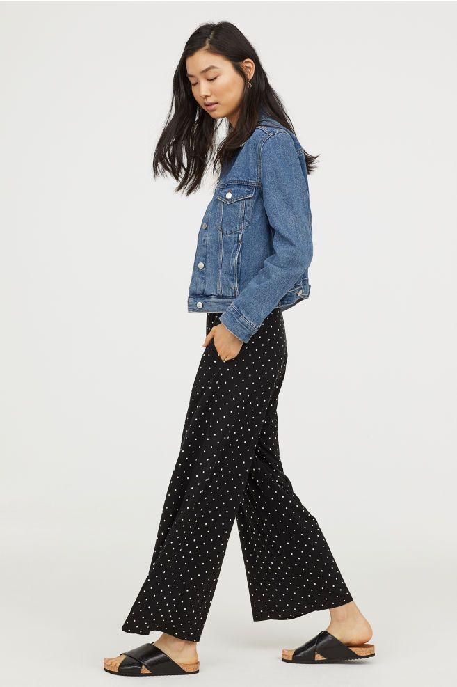 f5333ded8fa7 Wide-cut Jersey Pants | W H I S H * L I S T | Pants, Black pants ...